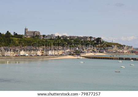 France, Brittany, Cancale at high tide