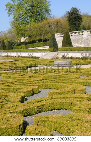 France, castle of Auvers sur Oise - stock photo