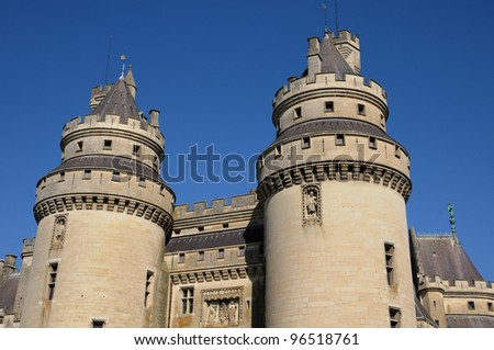 France, castle of Pierrefonds in Picardie