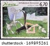 FRANCE - CIRCA 1998: A stamp printed in France shows spring by Pablo Picasso, circa 1998 - stock