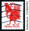 FRANCE - CIRCA 1992: a stamp printed in the France shows Marianne with Body and Head of Rooster, by Gerard Garouste, circa 1992 - stock photo