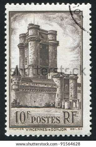 FRANCE - CIRCA 1938: stamp printed by France, shows Keep and Gate of Vincennes, circa 1938