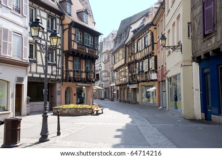 France, Colmar, medieval city in the centre of Europe - stock photo