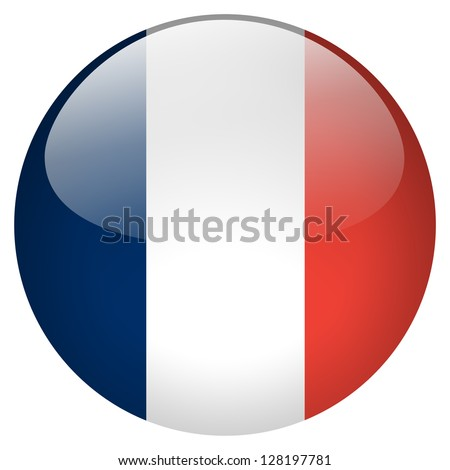 France flag button - stock photo