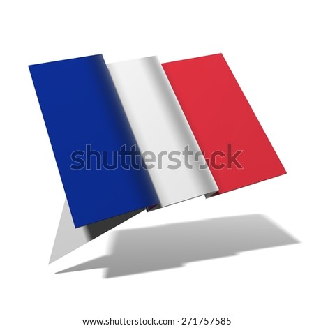 France flag 3D banner - stock photo