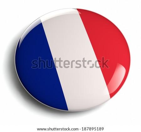 France flag design round badge. - stock photo