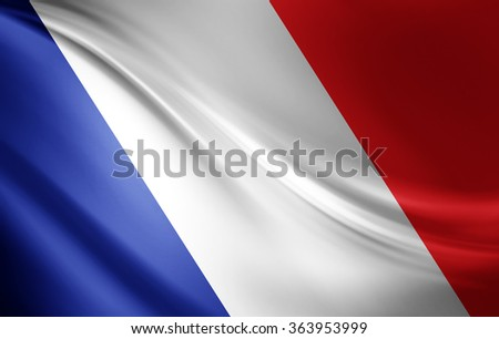 France flag of silk