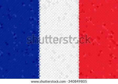 France Flag with the color blue white red.