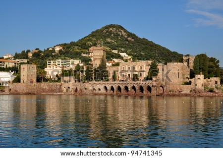 France, French riviera, Mandelieu la Napoule, mimosa capital, seaside resort - stock photo