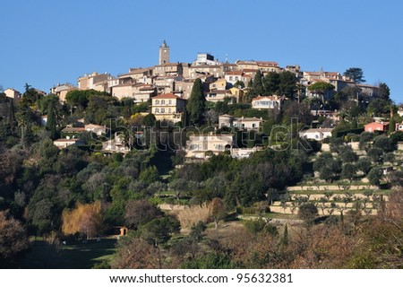 France, French riviera, Mougins, old village where Pablo Picasso lived 12 years. - stock photo