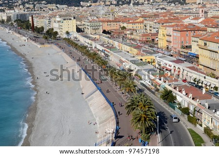 France,french riviera,old town,united states quay. - stock photo