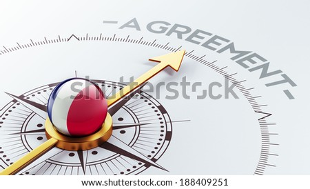 France High Resolution Agreement Concept - stock photo