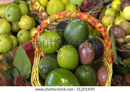 France, Martinique, Fort de France, creole market