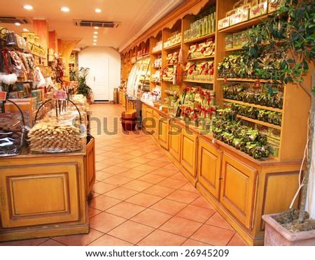 France. Nice. Small shop - stock photo