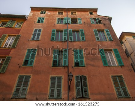 France , Nice. Typical architectural details