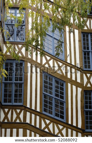 France, Normandie, old houses in Rouen