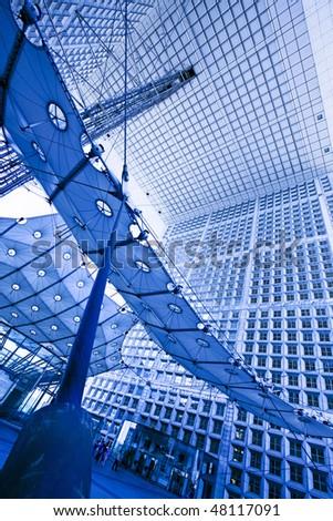 France, paris-New Paris- la defense - stock photo