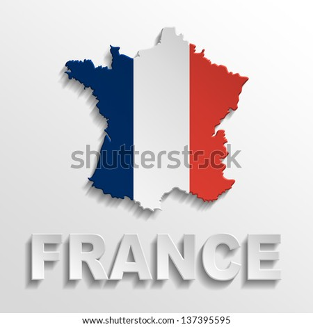 france poster - stock photo