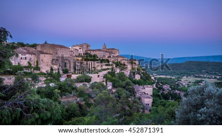 France, Provence, Gordes: After the sunset