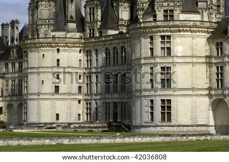 France, renaissance castle of Chambord