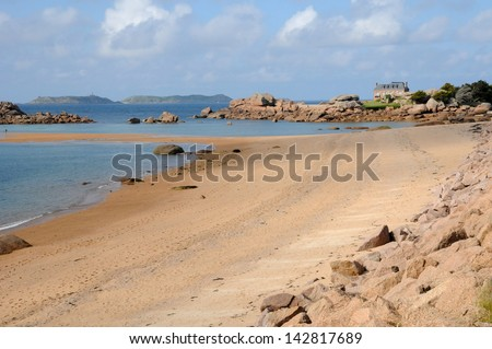 France, Renote island in Tregastel