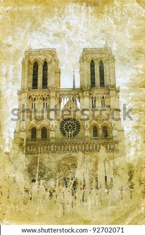 France - retro style picture - stock photo