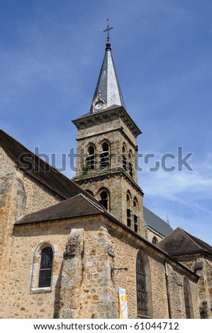 France, Saint Martin church in Chevreuse