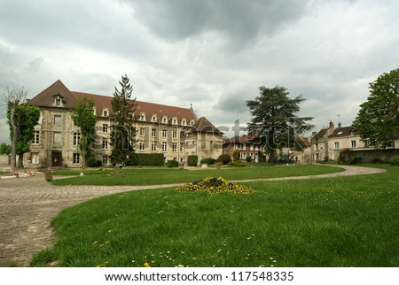 france, senlis, picardy, oise--- Saint Vincent Abbey was founded in 1065 by the queen Anne de Kiev and entrusted to the monks of Genovefains. - stock photo