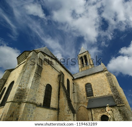 france, senlis, picardy, oise--- Saint Vincent Abbey was founded in 1065 by the queen Anne de Kiev and entrusted to the monks of Genovefains - stock photo