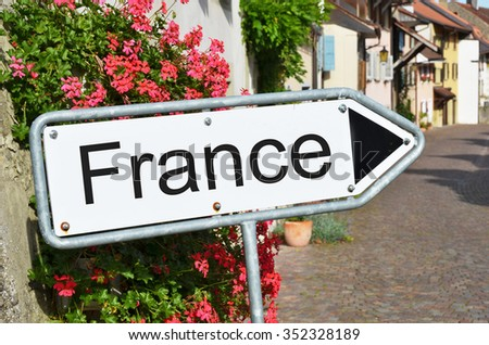 France sign on the street