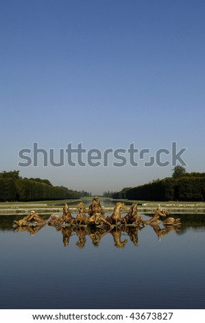 France, statue in the park of Versailles palace