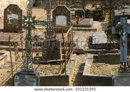 France, the cemetery of Guiry en Vexin in Val d�¢??Oise