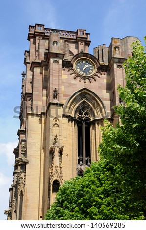 France, the church Notre Dame de l Assomption of Rouffach  in Alsace