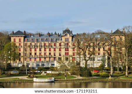 France, the city Bagnoles de l Orne in Normandie