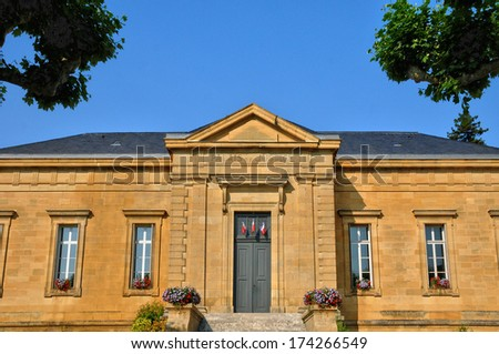 France, the law court of Sarlat la Caneda in Dordogne