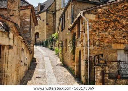 France, the picturesque village of Beynac in Dordogne