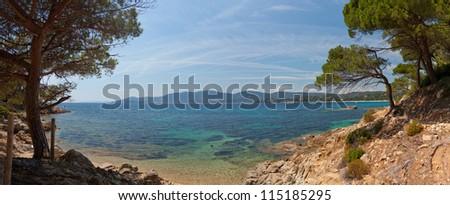 France the sea Provence - stock photo