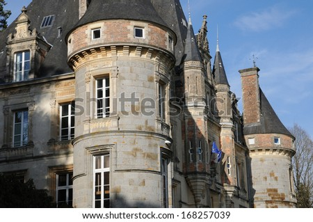 France, the town hall of Bagnoles de l Orne in Normandie