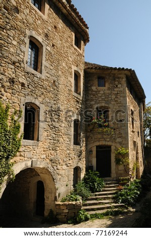 France, the village of Oppede in Provence