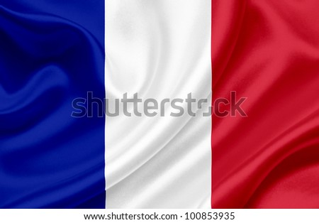 France waving flag - stock photo