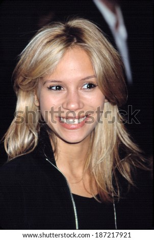 Francesca Cezan at premiere of ON THE LINE, NY 10/9/2001