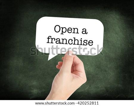 Franchise written on a speechbubble - stock photo