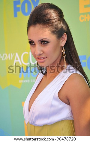 Francia Raisa at the 2011 Teen Choice Awards at the Gibson Amphitheatre, Universal Studios, Hollywood. August 7, 2011  Los Angeles, CA Picture: Paul Smith / Featureflash