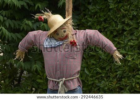Franciacorta (Bs),Lombardy,Italy,a scarecrow in a garden