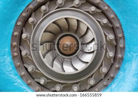 francis hydraulic turbine, especially of the rotor - stock photo