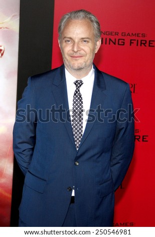 """Francis Lawrence at the Los Angeles Premiere of """"The Hunger Games: Catching Fire"""" held at the Nokia Theatre L.A. Live in Los Angeles on November 18, 2013 - stock photo"""