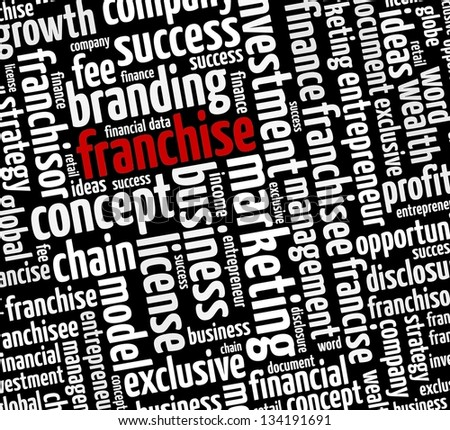 Francise in word collage - stock photo