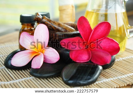 Frangipani for Spa concept - stock photo