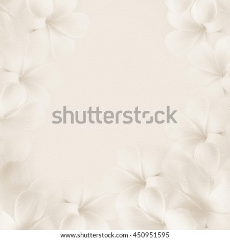 frangipani (plumeria) , sweet flowers in soft color and blur style on mulberry paper texture for background