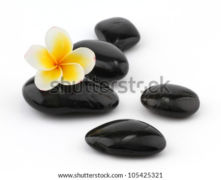 Frangipani with spa stones